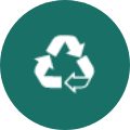 reduce plastic and co2 icon